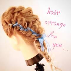 アップスタイル 三つ編み ストリート ヘアアレンジ ヘアスタイルや髪型の写真・画像