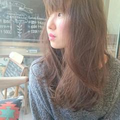 おフェロ デート フェミニン ロング ヘアスタイルや髪型の写真・画像