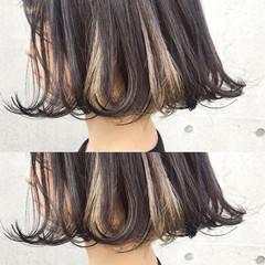 ボブ ダブルカラー ストリート ブリーチ ヘアスタイルや髪型の写真・画像