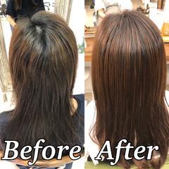 縮毛矯正 美髪 髪質改善トリートメント ツヤ髪 ヘアスタイルや髪型の写真・画像