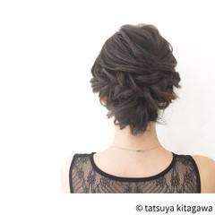 外国人風 セミロング 上品 ヘアアレンジ ヘアスタイルや髪型の写真・画像