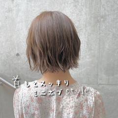 モテボブ 外ハネボブ ショートボブ 切りっぱなしボブ ヘアスタイルや髪型の写真・画像