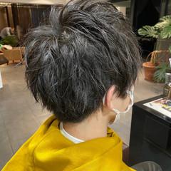 ショート メンズカット メンズマッシュ ナチュラル ヘアスタイルや髪型の写真・画像