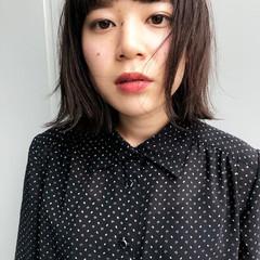 外国人風 シースルーバング 前髪あり 透明感 ヘアスタイルや髪型の写真・画像
