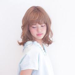 ピュア ミディアム ナチュラル モテ髪 ヘアスタイルや髪型の写真・画像