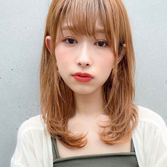モテ髪 アンニュイほつれヘア ミディアムレイヤー デジタルパーマ ヘアスタイルや髪型の写真・画像