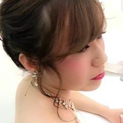 ヘアアレンジ 上品 ミディアム エレガント ヘアスタイルや髪型の写真・画像