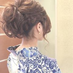 夏 花火大会 お祭り 和装 ヘアスタイルや髪型の写真・画像