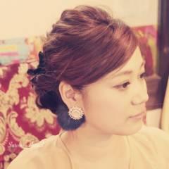 モテ髪 コンサバ ヘアアレンジ フェミニン ヘアスタイルや髪型の写真・画像