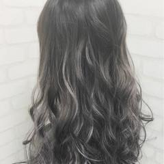 渋谷系 ロング ゆるふわ グラデーションカラー ヘアスタイルや髪型の写真・画像