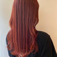 モード オレンジカラー インナーカラー オレンジ ヘアスタイルや髪型の写真・画像