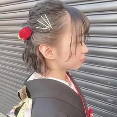 透明感カラー インナーカラー ヘアアレンジ ナチュラル ヘアスタイルや髪型の写真・画像