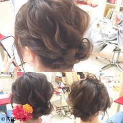 お祭り 色気 夏 ナチュラル ヘアスタイルや髪型の写真・画像