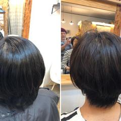 ナチュラル 小顔 小顔ヘア 髪質改善トリートメント ヘアスタイルや髪型の写真・画像
