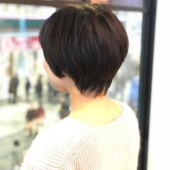かっこいい ナチュラル ショート 暗髪 ヘアスタイルや髪型の写真・画像