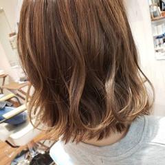 グレージュ ベージュ ヘアアレンジ ボブ ヘアスタイルや髪型の写真・画像