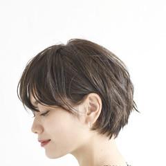 アンニュイほつれヘア 簡単ヘアアレンジ ショートボブ パーマ ヘアスタイルや髪型の写真・画像