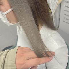 透明感カラー ベージュ ナチュラル可愛い インナーカラー ヘアスタイルや髪型の写真・画像