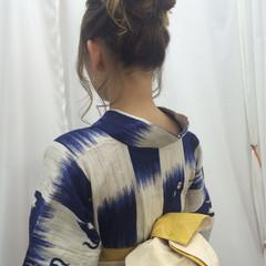 アップスタイル 編み込み 夏 ヘアアレンジ ヘアスタイルや髪型の写真・画像