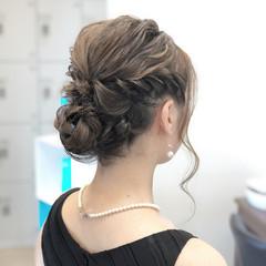 フェミニン デート 簡単ヘアアレンジ セミロング ヘアスタイルや髪型の写真・画像