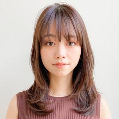 デジタルパーマ セミロング 大人女子 ゆるふわパーマ ヘアスタイルや髪型の写真・画像