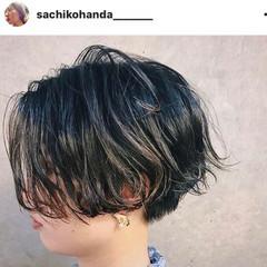 前髪あり ハーフアップ 黒髪 ボブ ヘアスタイルや髪型の写真・画像