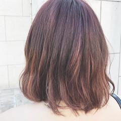 ミルクティー パーマ ピンク アッシュ ヘアスタイルや髪型の写真・画像