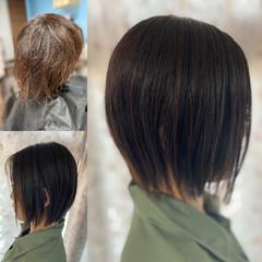 ボブ ウルフカット ミニボブ ショートヘア ヘアスタイルや髪型の写真・画像