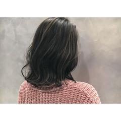 ストリート ボブ ミディアム ハイライト ヘアスタイルや髪型の写真・画像