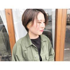 ショート ショートヘア 耳掛けショート ショートボブ ヘアスタイルや髪型の写真・画像
