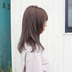 ピンクラベンダー ラベンダーグレージュ ナチュラル ピンクアッシュ ヘアスタイルや髪型の写真・画像