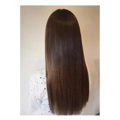 縮毛矯正 髪質改善トリートメント ロング 最新トリートメント ヘアスタイルや髪型の写真・画像