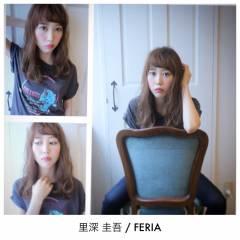 ストリート 外国人風 マルサラ ロブ ヘアスタイルや髪型の写真・画像