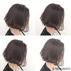 前下がり 抜け感 ボブ コンサバ ヘアスタイルや髪型の写真・画像
