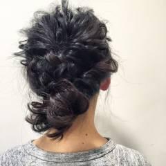 コンサバ ショート ヘアアレンジ くるりんぱ ヘアスタイルや髪型の写真・画像