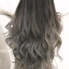 ゆるふわ セミロング 暗髪 エクステ ヘアスタイルや髪型の写真・画像
