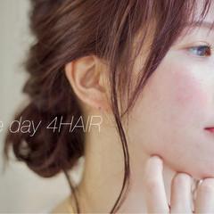ヘアアレンジ アンニュイ ゆるふわ ラベンダーピンク ヘアスタイルや髪型の写真・画像