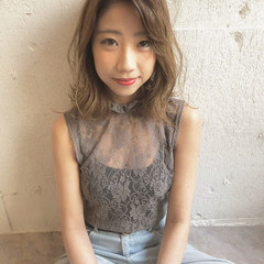 外国人風 透明感 夏 ハイライト ヘアスタイルや髪型の写真・画像
