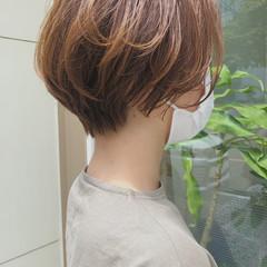 大人ショート ショート ハンサムショート 小顔ショート ヘアスタイルや髪型の写真・画像