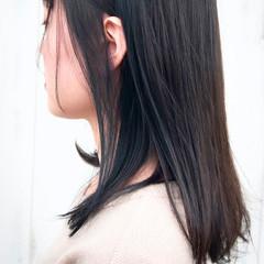 ネイビー ナチュラル ネイビーアッシュ ネイビーカラー ヘアスタイルや髪型の写真・画像