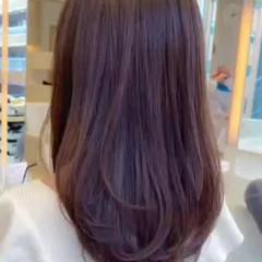 デジタルパーマ ロング レイヤー 大人ロング ヘアスタイルや髪型の写真・画像