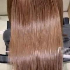 ロング 小顔ヘア 最新トリートメント 髪質改善トリートメント ヘアスタイルや髪型の写真・画像