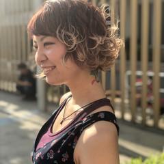 ヌーディベージュ ショートボブ グラデーション 春色 ヘアスタイルや髪型の写真・画像