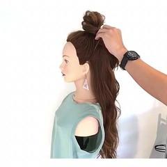 簡単ヘアアレンジ アウトドア ヘアアレンジ 夏 ヘアスタイルや髪型の写真・画像