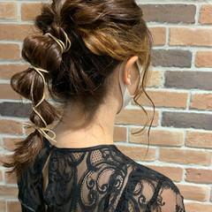 結婚式ヘアアレンジ ゆるふわ ヘアアレンジ ナチュラル ヘアスタイルや髪型の写真・画像