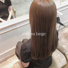 ヌーディベージュ シアーベージュ ナチュラル ミルクティーベージュ ヘアスタイルや髪型の写真・画像
