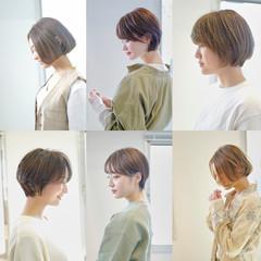 ナチュラル ベリーショート ショートバング ショート ヘアスタイルや髪型の写真・画像