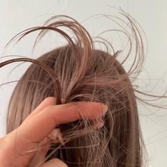 ミルクティー ヘアアレンジ アウトドア デート ヘアスタイルや髪型の写真・画像