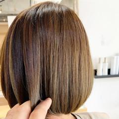 切りっぱなしボブ イルミナカラー 外国人風カラー ミニボブ ヘアスタイルや髪型の写真・画像