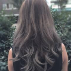 ロング グラデーションカラー コンサバ 外国人風 ヘアスタイルや髪型の写真・画像